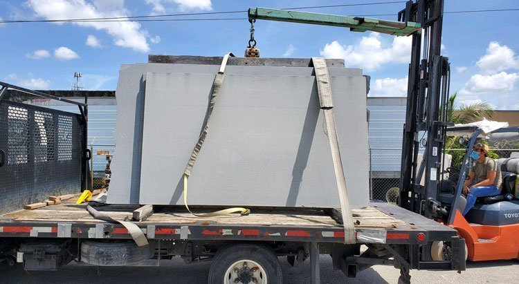 Shipping Quartz Slabs in California