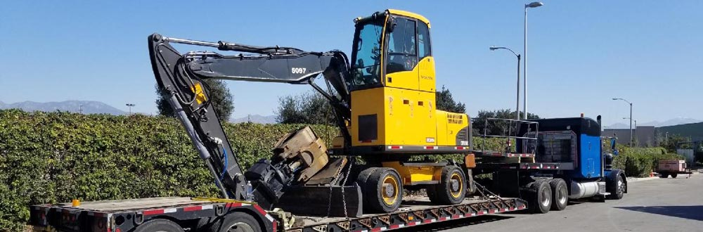 Construction Equipment Transport California, California Construction Machinery Transportation