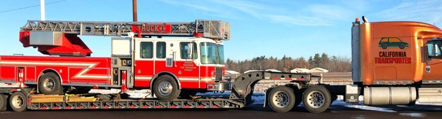 Emergency Equipment Transport in California, Hauling Emergency Equipment California