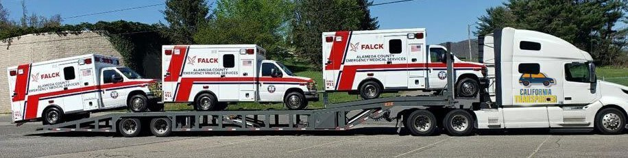 Emergency Equipment Transport in California, California Emergency Equipment Shipping